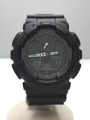 クォーツ腕時計・G-SHOCK/デジアナ/ラバー/ブラック/ブラック