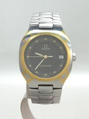SEAMASTER/POLARIS/クォーツ腕時計/アナログ/ステンレス/BLK/シーマスター ポラリス