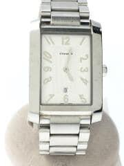 クォーツ腕時計/0242/アナログ/ステンレス/ホワイト/シルバー