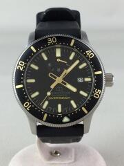 ダイバーズウォッチ/自動巻腕時計/アナログ/ラバー/ブラック/RK-AU0303B