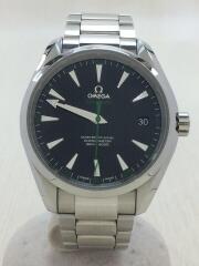 シーマスター・アクアテラ150M・SS/アナログ//自動巻腕時計//SEAMASTER AQUA TERRA//バックスケルトン/