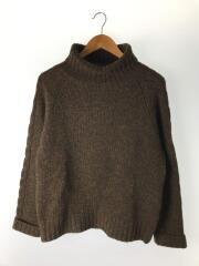 セーター(厚手)/M/ウール/BRW/タートルネック/596-260461