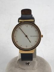 クォーツ腕時計/アナログ/レザー/WHT/skw2608