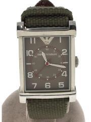 クォーツ腕時計/アナログ/ナイロン/GRY/AR-0221
