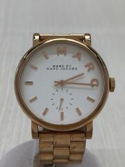 レディースベイカーウォッチ/クォーツ腕時計/アナログ/ステンレス/WHT/GLD/MBM3244