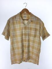 50-60S/オープンカラー半袖シャツ/16.5/コットン/ORN/チェック