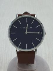クォーツ腕時計/アナログ/レザー/BRW/14602157/チャールズ/箱付