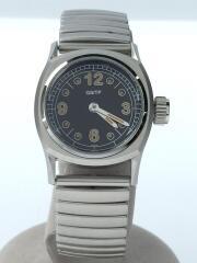 GS/TP/クオーツブラックダイアル/クォーツ腕時計/アナログ/ステンレス/ブラック/SLV/QMD03B