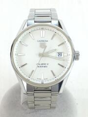 自動巻腕時計・カレラキャリバー5/アナログ/WHT/WAR211B.BA0782/箱、コマ有/carrera