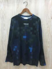 MOSAIC PT L/S-T/長袖Tシャツ/1/コットン/NVY/総柄/19715067