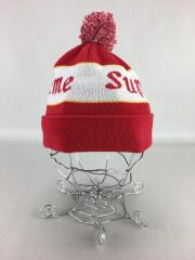 ニットキャップ/--/アクリル/RED/ニット帽/ロゴ