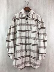 シャツ/ポリエステル/BEG/チェック/111950406201-01/シャギールーズチェックシャツ