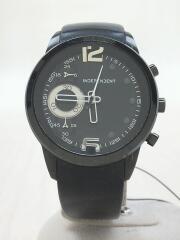 クォーツ腕時計/アナログ/BLK/BLK/S086965