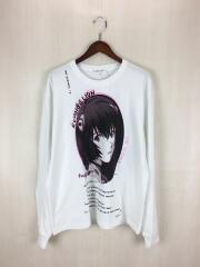 長袖Tシャツ/L/コットン/WHT 20SS-EVA×FS×FourStore-01 エヴァンゲ