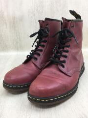 ブーツ/US10/RED/レザー/AW006/SoftWair/軽量/8ホール
