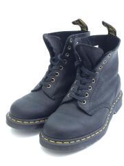 ブーツ/US8 PASCAL/8ホール ブラック 26.0cm