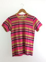 Tシャツ/--/コットン/PNK/ボーダー GT-100330 ピンク カットソー