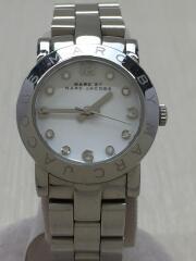 クォーツ腕時計/アナログ/ステンレス/WHT/SLV/MBM3146/カラーストーン