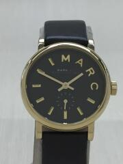 クォーツ腕時計/アナログ/レザー/BLK/MBM1269/