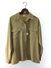 ジョーゼットダブルポケットシャツ/オープンカラー/19年モデル/FREE/ポリエステル/GRN