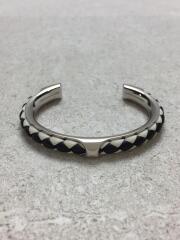 Bracelet Kyoto Tresse/バングル/レザー編み込み/ホワイト/ブラック