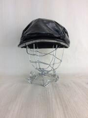 ALEXANDER WANG X/エナメル/ベレー帽/ハンチング/牛革/ブラック