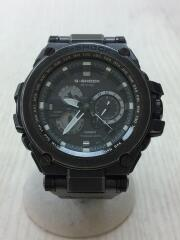 カシオ/ソーラー腕時計・G-SHOCK/アナログ/ステンレス/ブラック/001A216E/中古
