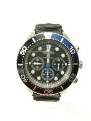 AIR DIVERS 200m/PROSPEX/ソーラー腕時計/アナログ/ラバー/ブラック/V175-0AD