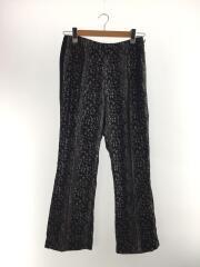 21SS/SL WU BOOT CUT PANT/ブーツカットパンツ/S/ブラック/レオパード/IN082