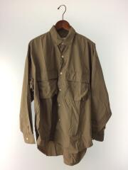 長袖シャツ/S/ナイロン/BEG/胸ポケット/カブセ/20ss/ビッグシルエットシャツ/LUIS