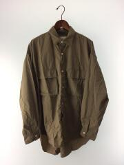 長袖シャツ/M/ナイロン/BEG/LUIS/カジュアル/胸ポケット/カブセ/20ss/ビッグシルエット
