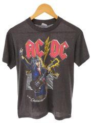 80S/バンドTシャツ/M/コットン/GRY/WHO MADE WHO TOUR/1986年/染み込み