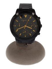 VD53-KJ00/クォーツ腕時計/アナログ/ステンレス/BLK/BLK/三つ目クロノグラフ