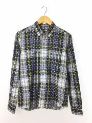 長袖シャツ/S/コットン/BLU/チェック/SOPH-120089/DOT PATTERN/BDシャツ