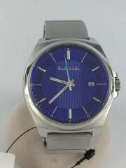 クォーツ腕時計/アナログ/ステンレス/BLU/インポート/デザイナーズ/カジュアル/3針