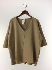 Tシャツ/--/コットン/KHK/無地/アメカジ/カーキー/ビッグシルエット/スウェット/半袖