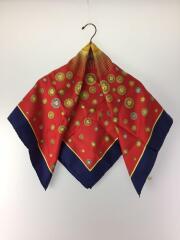 スカーフ/シルク/RED/総柄/ユニセックス/ラグジュアリー/インティ/太陽神/レッド/正方形