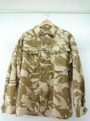 長袖シャツ/M/コットン/BEG/カモフラ/99年製/イギリス軍/コンバットシャツ/ヨゴレ有/ミリタリ