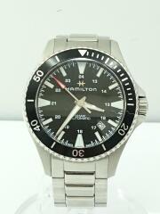自動巻腕時計/アナログ/ステンレス/BLK/SLVH823350/カーキネイビースキューバー/防水