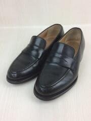 コインローファー/UK6/ブラック/黒/レザー/革靴/netton/カスタムグレード