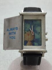腕時計/アナログ/レザー/シルバー/Doratch