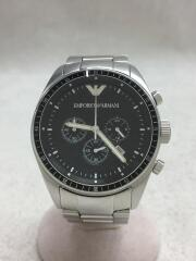クォーツ腕時計ステンレス/アナログ/ブラック/シルバー/クロノグラフ/AR0585