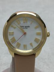 腕時計/アナログ/レザー/ホワイト/ピンク/KSW1247