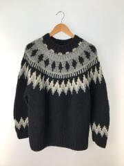 セーター(厚手)/M/ウール/ブラック/ノルディック柄/19-080-464-6210-3-0/2019