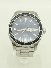 クォーツ腕時計/アナログ/ステンレス/BLU/SLV/H375510