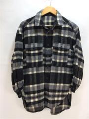 19AW/ネルシャツ/S/ポリエステル/BLK/チェック/250CA030-265H