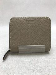 SELLERIA/2つ折り財布/レザー/グレー/8M0407SFR