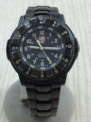LUMINOX/ルミノックス/クォーツ腕時計/NIGHTHAWK 6420 SERIES/アナログ/BLK