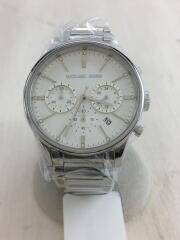 マイケルコース/クォーツ腕時計/アナログ/ステンレス/WHT/SLV/MK-5985/クロノグラフ/ホワイト