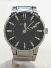 フォッシル/クォーツ腕時計/アナログ/FS-4425/BLK/SLV/メンズ